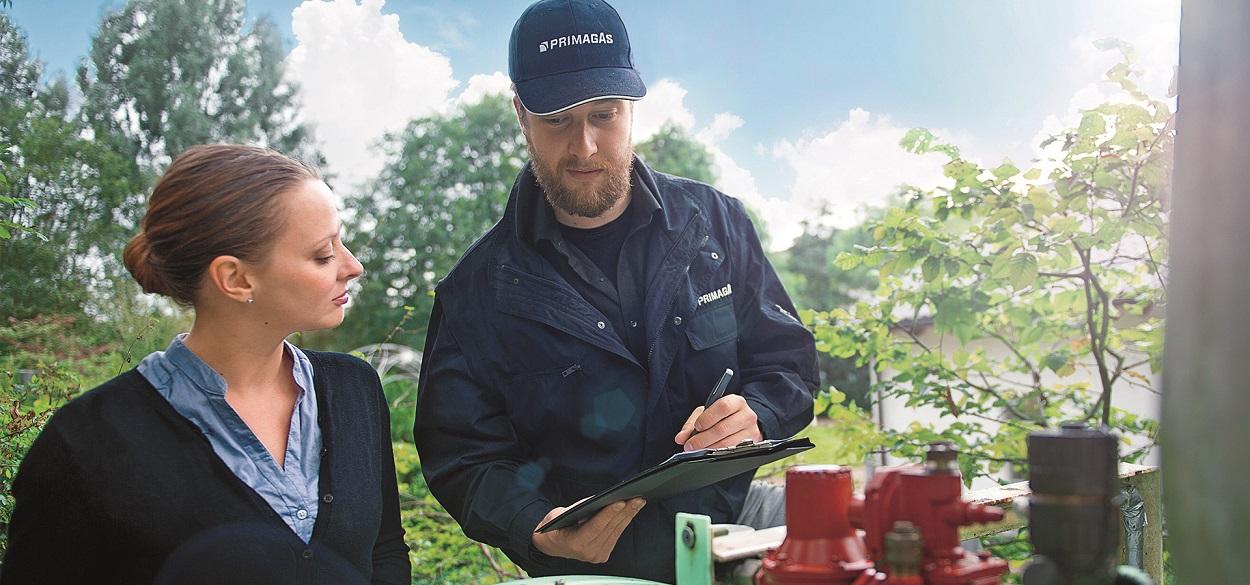 PRIMAGAS - Einweisung - Flüssiggastank