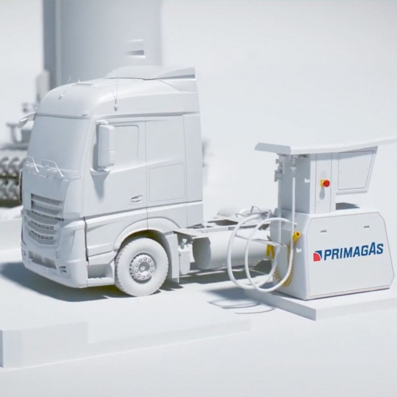 PRIMAGAS - LNG - LNG-Tankvorgang