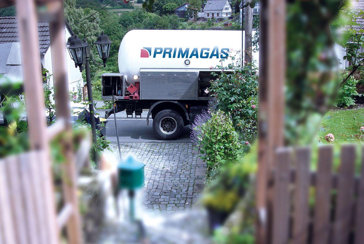 PRIMAGAS Flüssiggaslieferung, Tankwagen