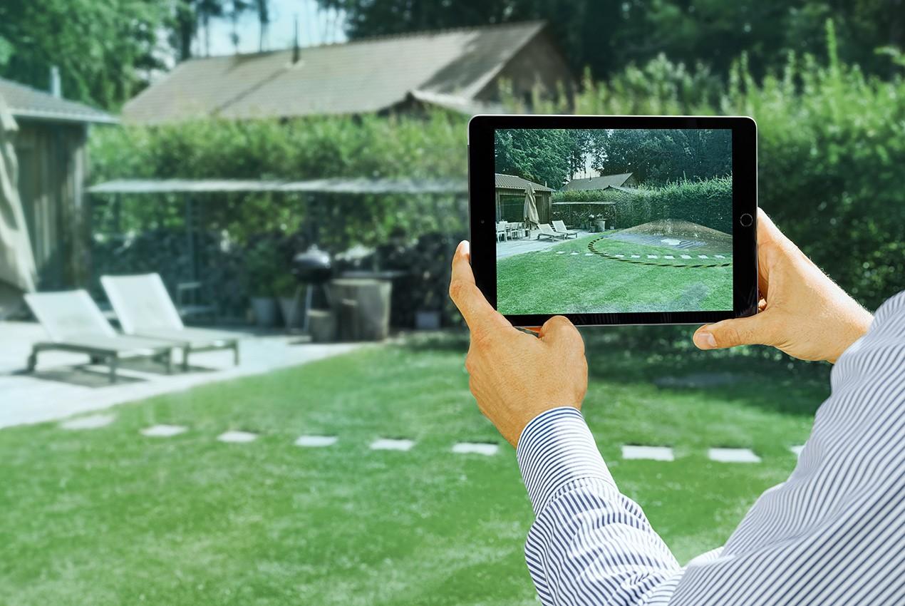 PRIMAGAS AR-App,  Augmented reality App, Platzierung erdgedeckter Tank
