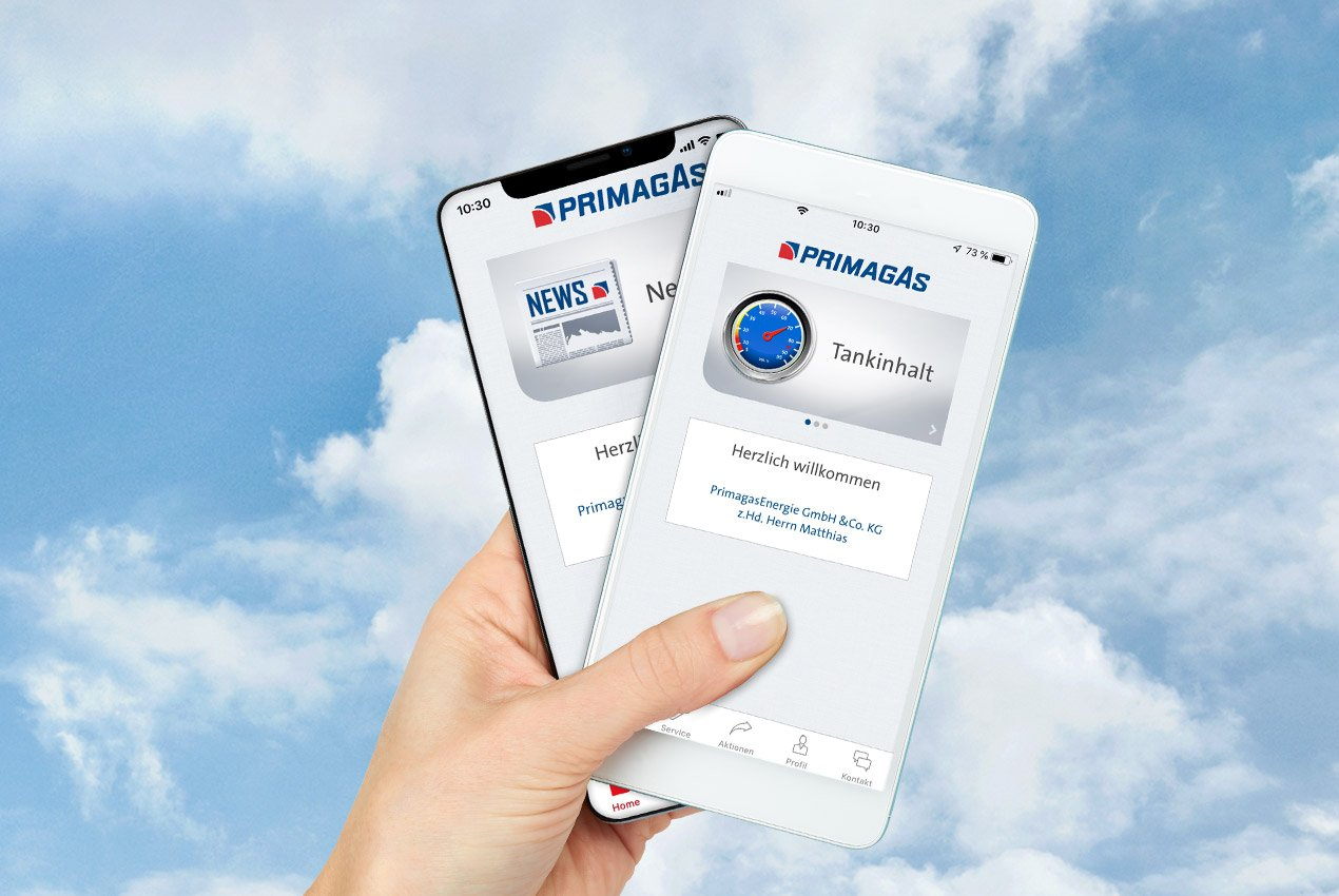PRIMAGAS - Kunden App - Handy