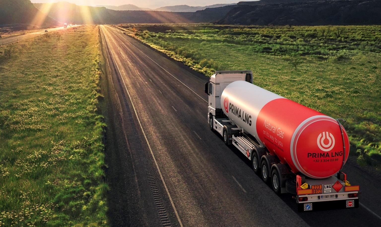 PRIMAGAS LNG (Flüssigerdgas) für die Transportlogistik